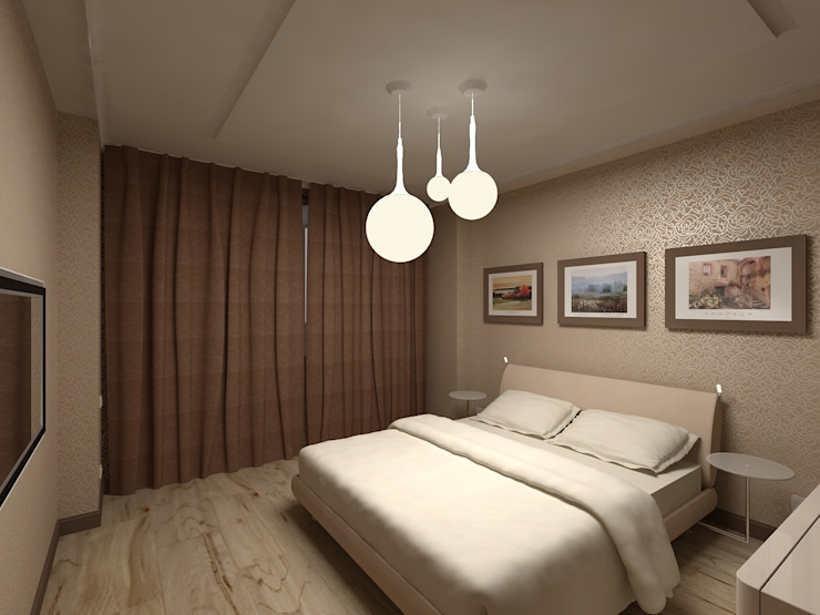 Квартира в г.Калининграде Спальня в стиле минимализм от AGRAFFE design Минимализм