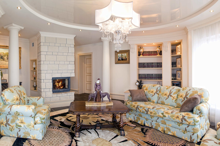 Living room by AGRAFFE design, Classic