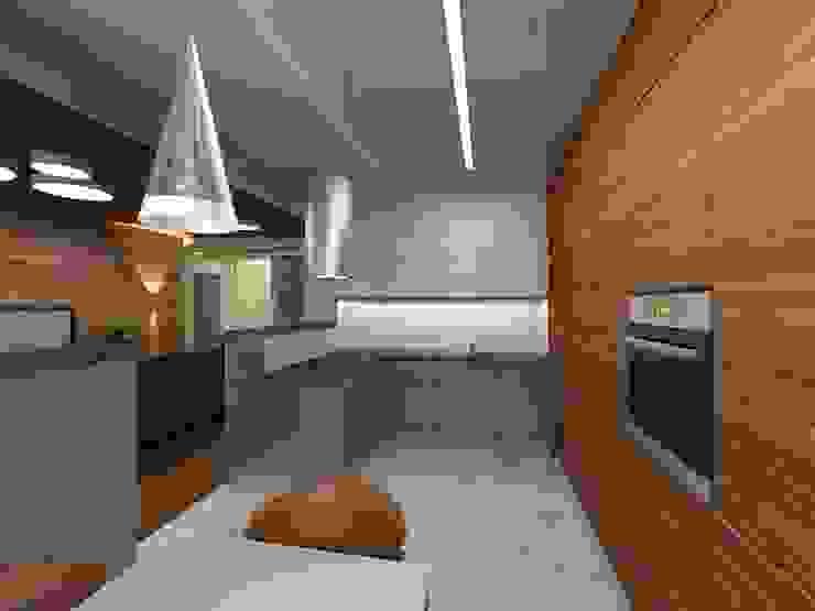 Квартира в г.Калининграде Кухня в стиле минимализм от AGRAFFE design Минимализм
