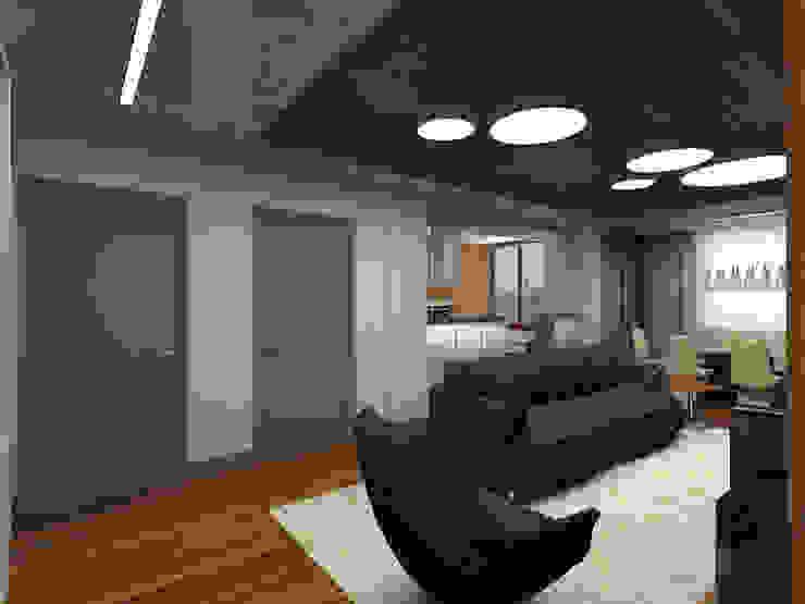 Квартира в г.Калининграде Гостиная в стиле минимализм от AGRAFFE design Минимализм