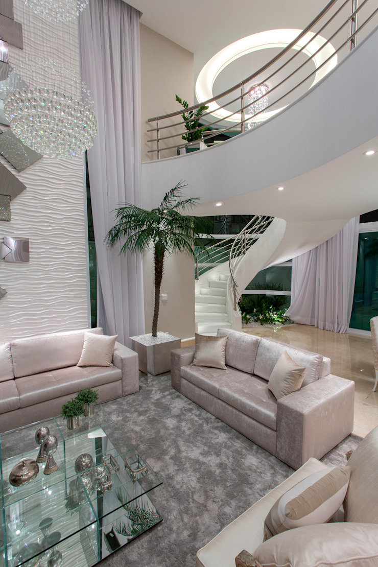Arquiteto Aquiles Nícolas Kílaris Moderne Wohnzimmer