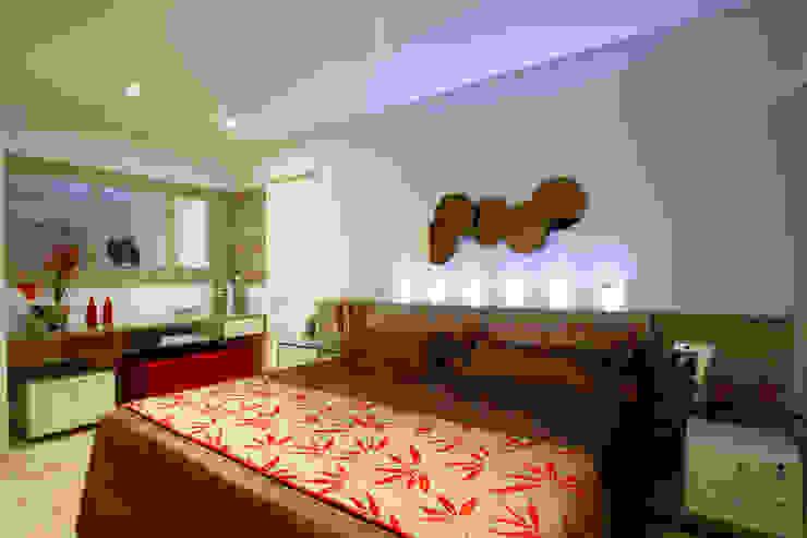 Apartamento Jaboatão dos Guararapes/PE: Quarto  por Celia Beatriz Arquitetura