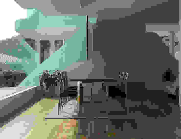 山と開口 モダンな キッチン の EASTERN design office イースタン建築設計事務所 モダン