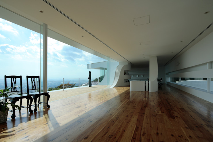 ​Mountain & Opening Modern Windows and Doors by EASTERN design office イースタン建築設計事務所 Modern