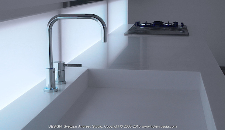 D_WHITE KITCHEN от Svetozar Andreev Architectural Studio: Hotei-Russia Минимализм