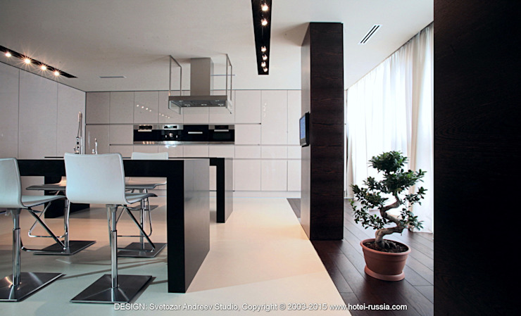 D_BLACK KITCHEN от Svetozar Andreev Architectural Studio: Hotei-Russia Минимализм