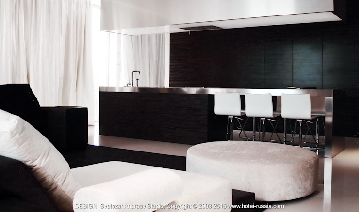 D_STEEL KITCHEN от Svetozar Andreev Architectural Studio: Hotei-Russia Минимализм