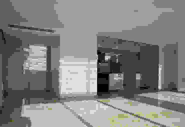 Salón y cocina Cocinas de estilo minimalista de CM4 Arquitectos Minimalista