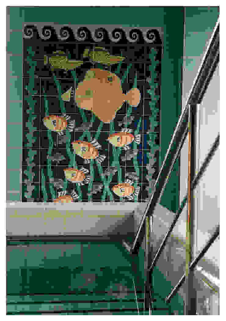 Angel fish tile panel by Reptile tiles & ceramics Tropical
