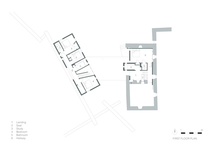 First Floor Plan de WT Architecture Moderno