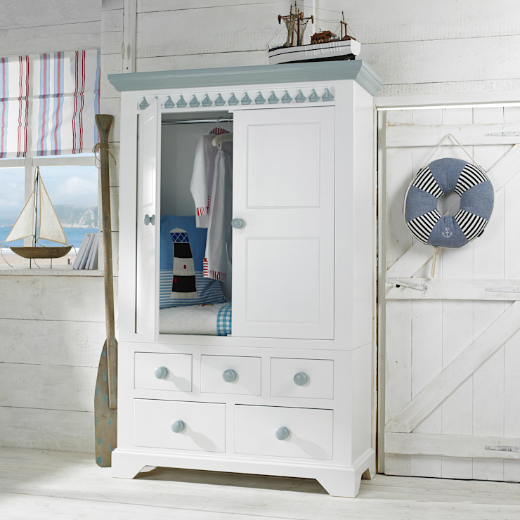 Little Buoy Blue Combination Wardrobe Little Lucy Willow Nursery/kid's roomWardrobes & closets