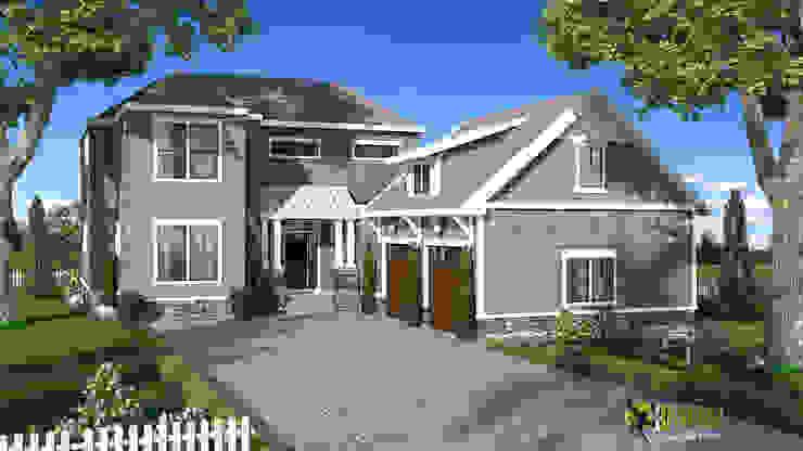 3D Exterior Rendering Home Design: modern  by Yantram Architectural Design Studio, Modern