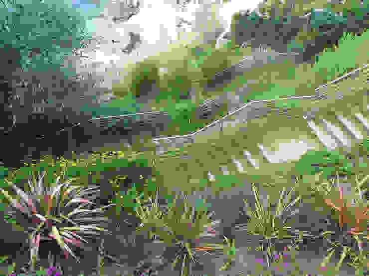 Jardín en bajada Jardines de estilo mediterráneo de LANDSHAFT Mediterráneo