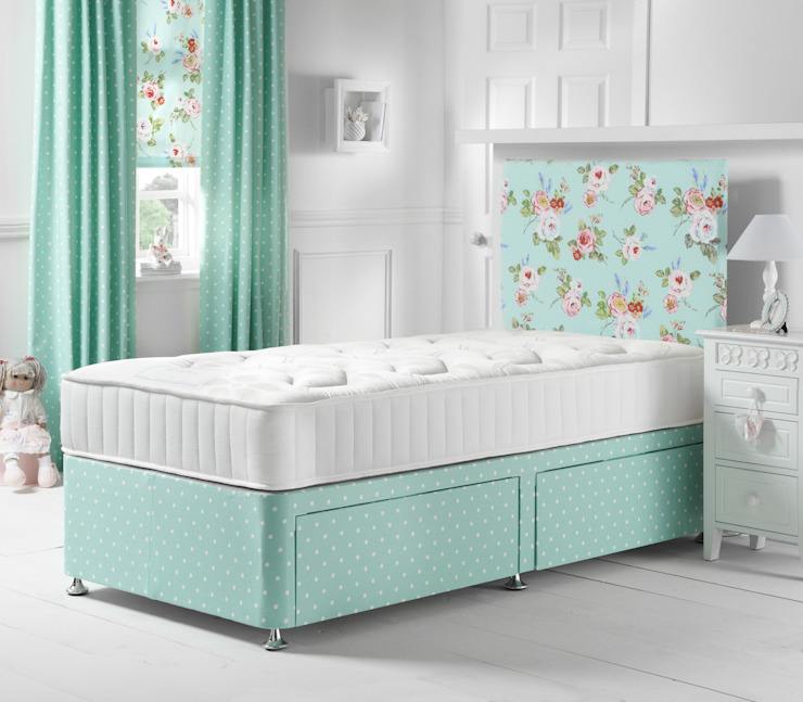 English Rose Seafoam Divan Bed Little Lucy Willow Quarto de criançasCamas e berços
