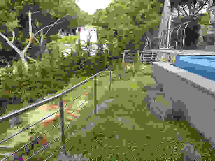Vegetación desbordante Jardines de estilo mediterráneo de LANDSHAFT Mediterráneo