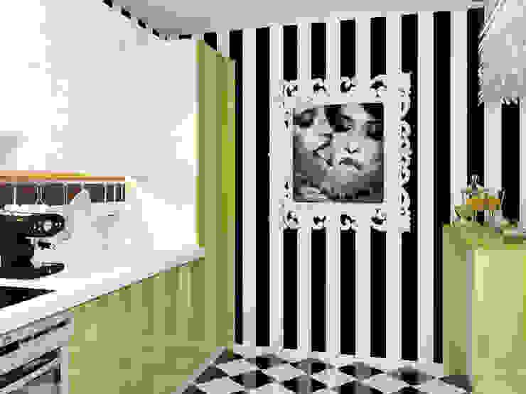 Квартира в стиле Энди Уорхола Кухни в эклектичном стиле от Студия дизайна интерьера Маши Марченко Эклектичный
