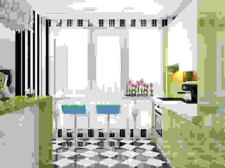 Квартира в стиле Энди Уорхола Студия дизайна интерьера Маши Марченко Кухни в эклектичном стиле