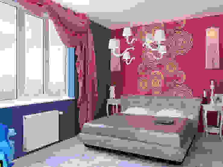 Квартира в стиле Энди Уорхола Спальня в эклектичном стиле от Студия дизайна интерьера Маши Марченко Эклектичный