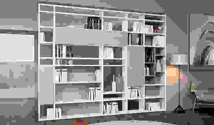 Libreria componibile bifacciale di homify Moderno