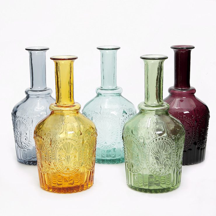 Handmade Portuguese Glass Decanter: mediterranean  by J & M Collections Ltd, Mediterranean