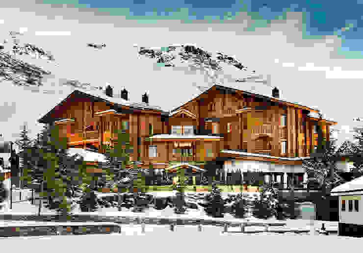 Hotel Lodge Ski & Spa Resort ***** Hoteles de estilo escandinavo de Estudio de arquitectura Jesús del Valle Escandinavo
