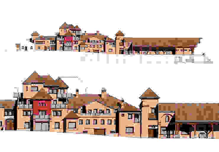 Alzados de fachada de Estudio de arquitectura Jesús del Valle