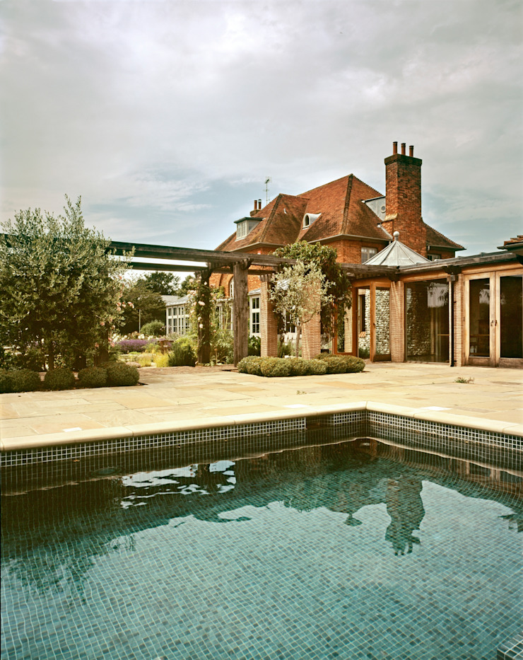 View from pool Giles Jollands Architect Classic style houses