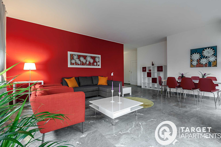 Parete Soggiorno Rossa.Il Rosso E Il Bianco Come Arredare Un Appartamento Con I