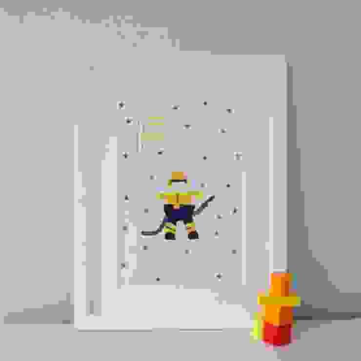 F is for Fireman :: Personalised Print Hope & Rainbows Nursery/kid's roomAccessories & decoration