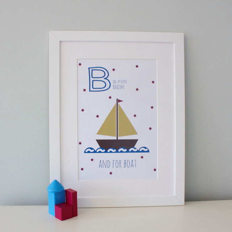 B is for Boat :: Personalised Print Hope & Rainbows Nursery/kid's roomAccessories & decoration