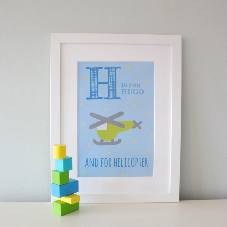H is for Helicopter :: Personalised Print Hope & Rainbows Nursery/kid's roomAccessories & decoration