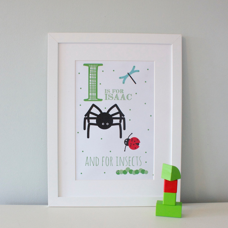 I is for Insects :: Personalised Print Hope & Rainbows Nursery/kid's roomAccessories & decoration