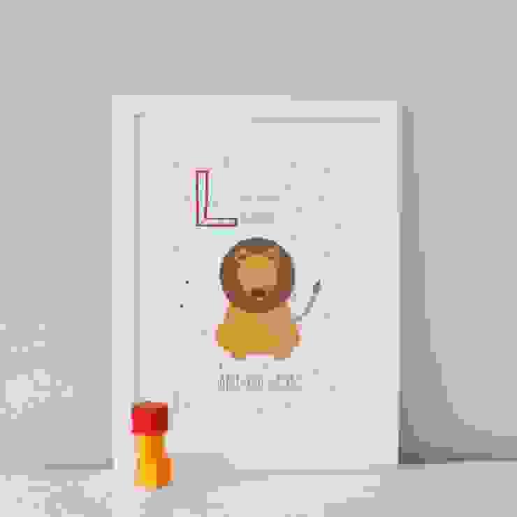 L is for Lion :: Personalised Print Hope & Rainbows Nursery/kid's roomAccessories & decoration