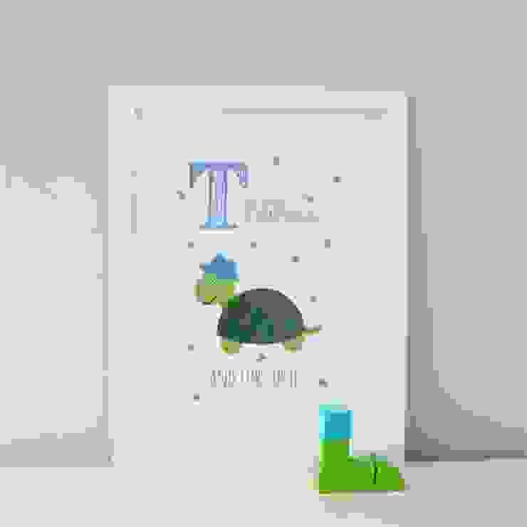 T is for Turtle :: Personalised Print Hope & Rainbows Nursery/kid's roomAccessories & decoration
