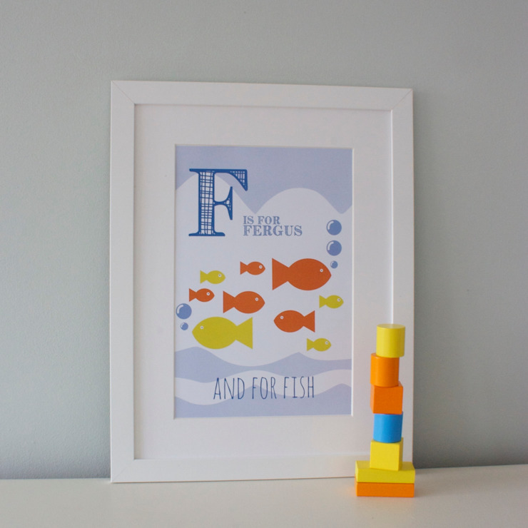 F is for Fish :: Personalised Print Hope & Rainbows Nursery/kid's roomAccessories & decoration