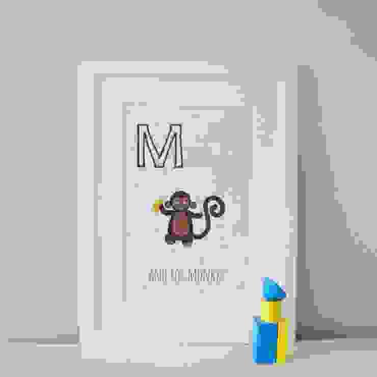 M is for Monkey :: Personalised Print Hope & Rainbows Nursery/kid's roomAccessories & decoration