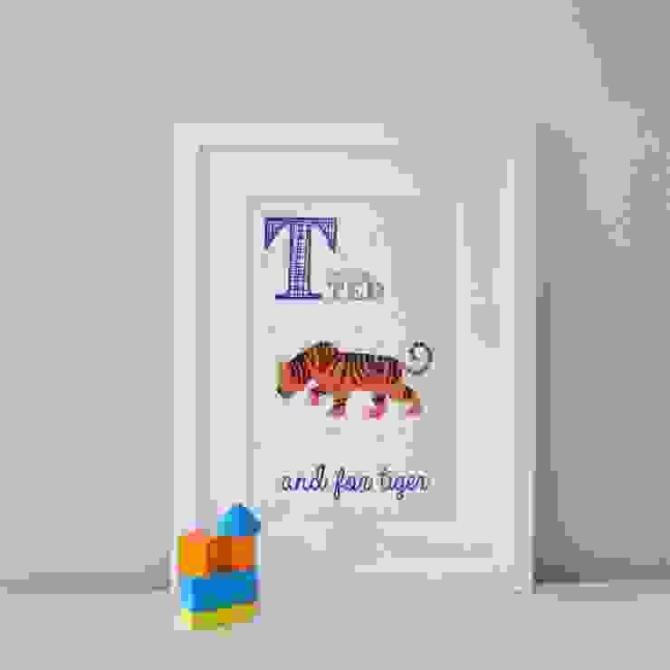 T is for Tiger :: Personalised Print Hope & Rainbows Nursery/kid's roomAccessories & decoration