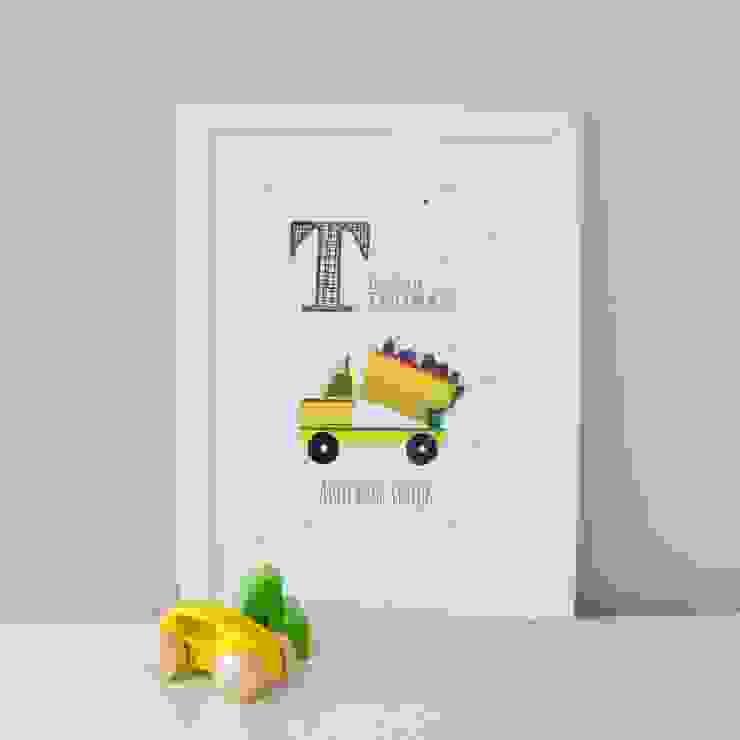 T is for Truck :: Personalised Print Hope & Rainbows Nursery/kid's roomAccessories & decoration