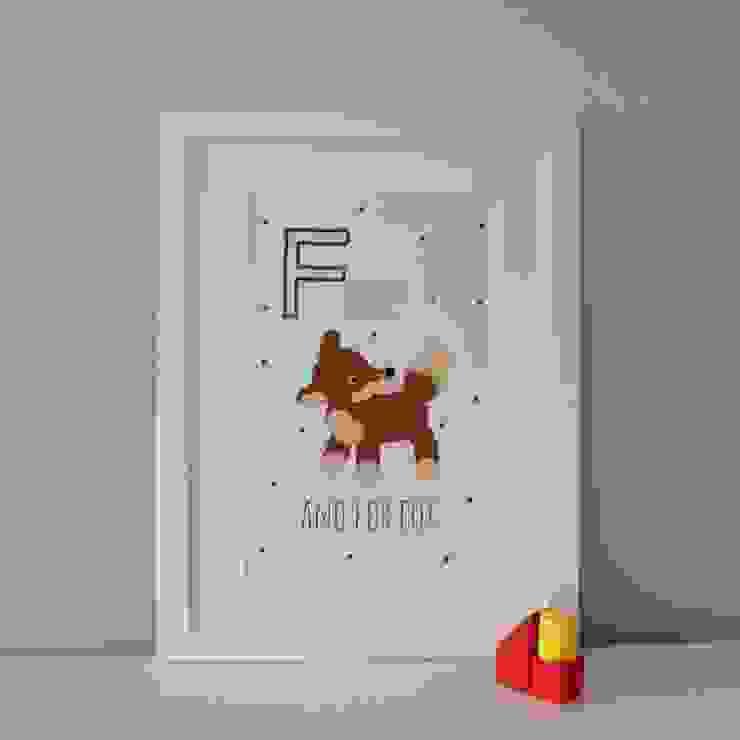 F is for Fox :: Personalised Print Hope & Rainbows Nursery/kid's roomAccessories & decoration