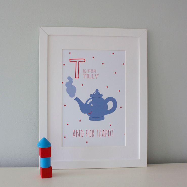 T is for Teapot :: Personalised Print Hope & Rainbows Nursery/kid's roomAccessories & decoration