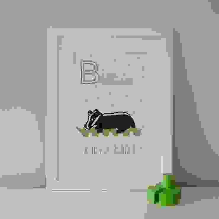 B is for Badger :: Personalised Prints Hope & Rainbows Nursery/kid's roomAccessories & decoration