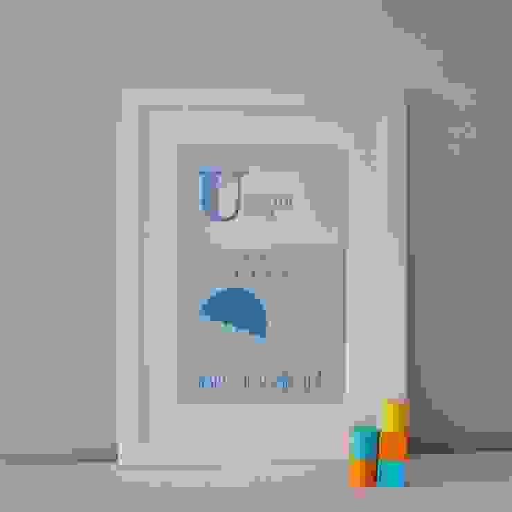U is for Umbrella :: Personalised Print Hope & Rainbows Nursery/kid's roomAccessories & decoration