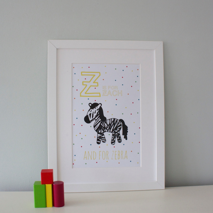 Z is for Zebra :: Personalised Print Hope & Rainbows Nursery/kid's roomAccessories & decoration