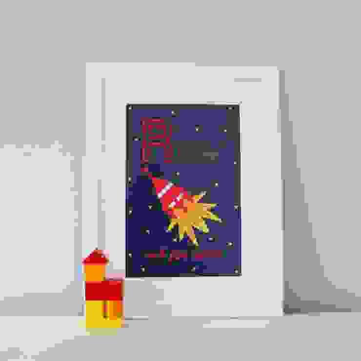 R is for Rocket (Dark) :: Personalised Print Hope & Rainbows Nursery/kid's roomAccessories & decoration