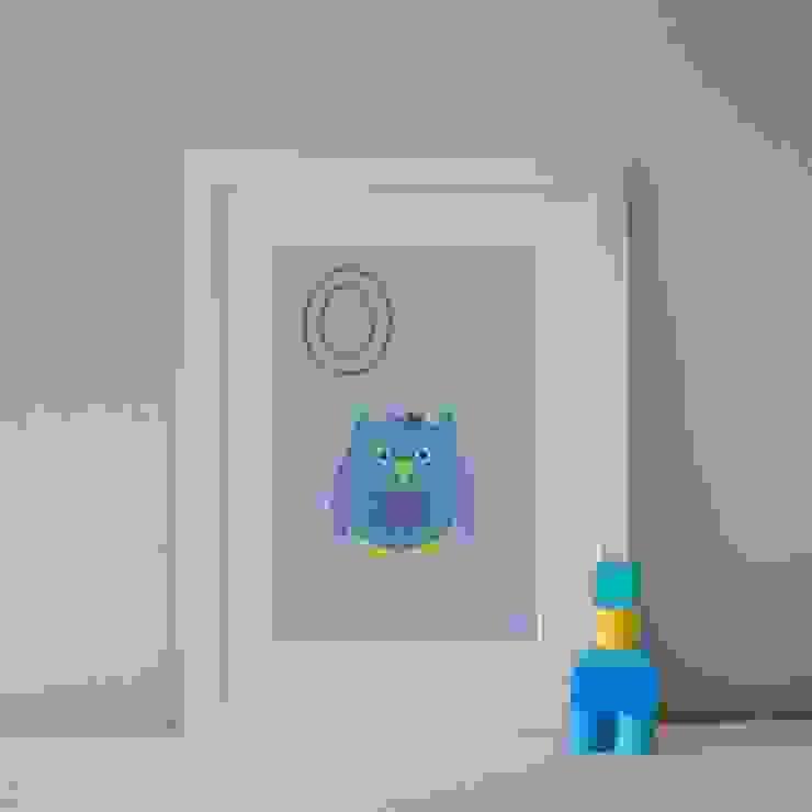 O is for Owl :: Personalised Print Hope & Rainbows Nursery/kid's roomAccessories & decoration