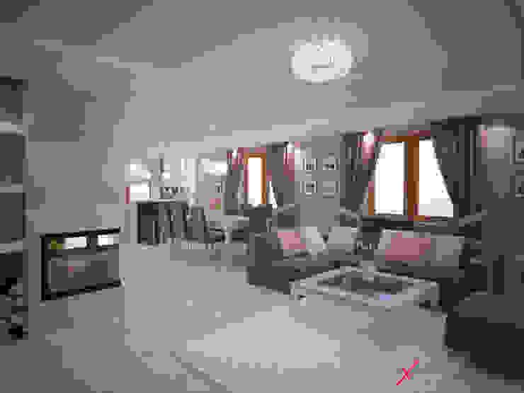 Dom jednorodzinny Nowoczesny salon od Axentim Nowoczesny