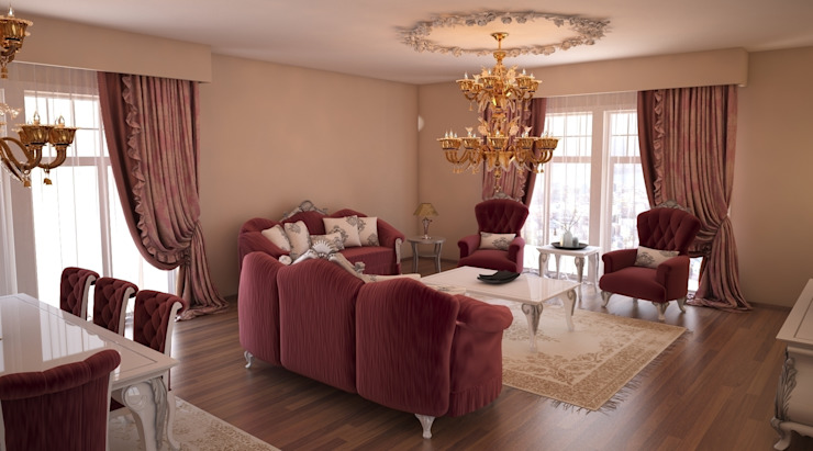 Sonmez Mobilya Avantgarde Boutique Modoko Ruang Keluarga Klasik