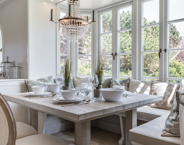 Salle à manger rurale par Home Staging Sylt GmbH Rural