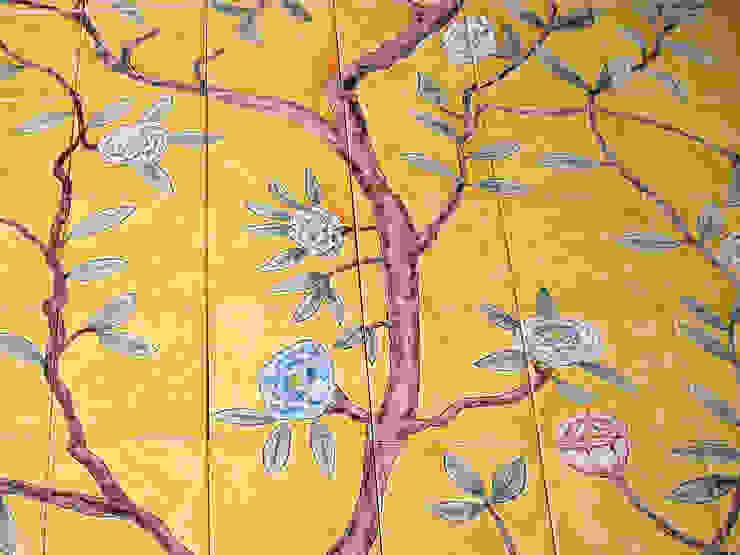 Chinese wallpaper tile panel detail. 和風の お風呂 の Reptile tiles & ceramics 和風