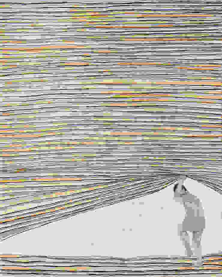 조민아-Blind side- 90.9x72.7cm-종이에 혼합재료-2015: CHO-MIN AH의 현대 ,모던